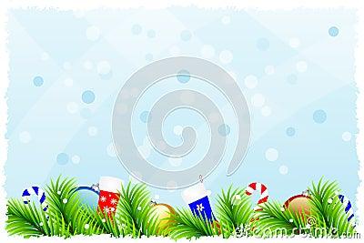 Fantastic christmas background
