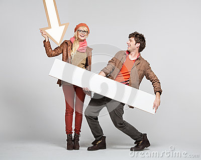 Fantastic couple playing the signs