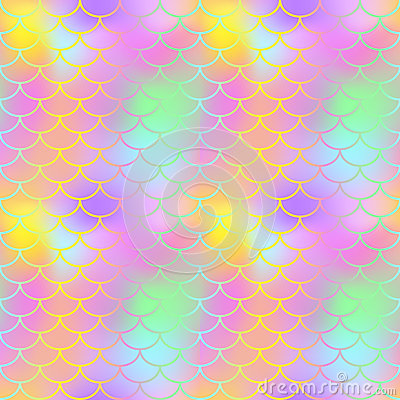 Free Fantastic Fish Skin Seamless  Pattern. Golden Pink Green Fishscale Swatch Texture Background. Royalty Free Stock Photography - 92133777