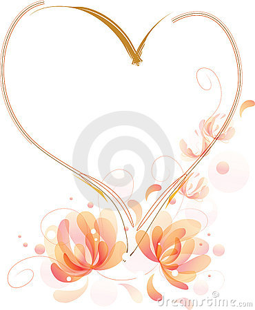 Fantastic flowers heart frame