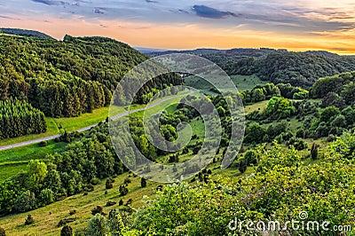 Fantastic Franconian Spring Landscape