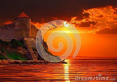 Fantastic red sunset.