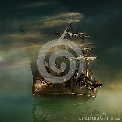 Free Fantastic Ship Royalty Free Stock Photo - 54698045