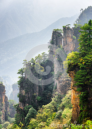 Free Fantastic View Of Trees Growing On Steep Cliffs Avatar Rocks Stock Images - 85462314