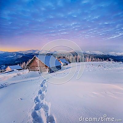 Free Fantastic Winter Landscape. Carpathian, Ukraine, Europe. Stock Photos - 66450543
