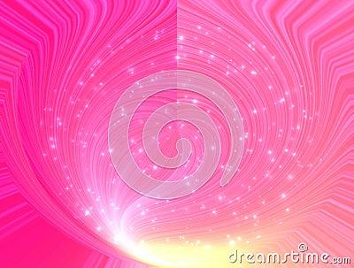 Fantastical rosy glow