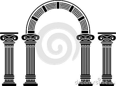 Fantasy arch and columns