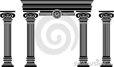 Greek Columns Architecture/eps Royalty Free Stock Image - Image ...