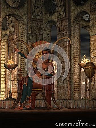 Fantasy barbarian queen