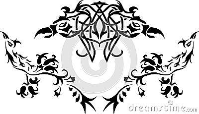 Fantasy birds stencil