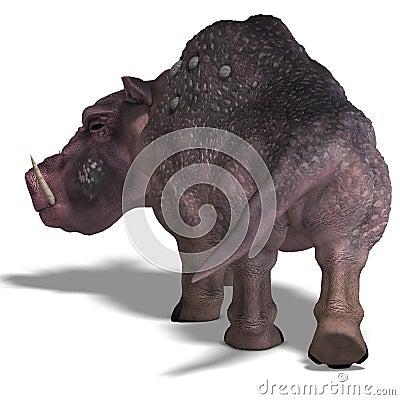 Fantasy boar with huge tusks