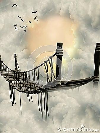 Free Fantasy Bridge Royalty Free Stock Photo - 9638745