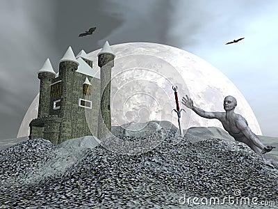 Fantasy castle - 3D render