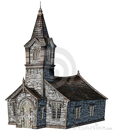 Fantasy church building