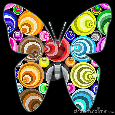 Free Fantasy Circle Butterfly Stock Images - 13818744