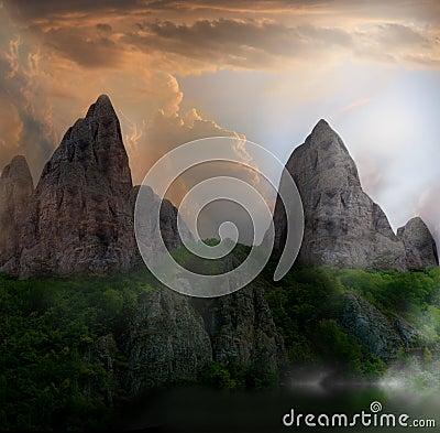 Fantasy cliff