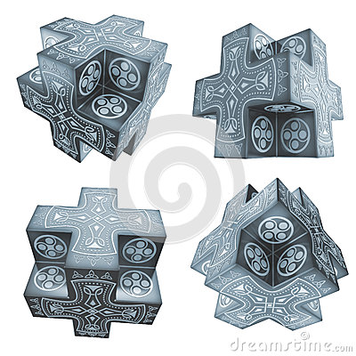 Fantasy crosses artefacts