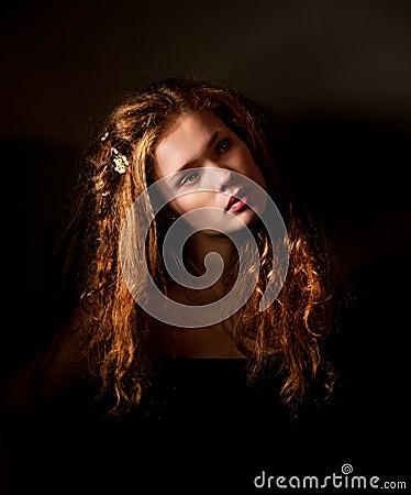 Free Fantasy Dark Fine Art Portrait Stock Photo - 17111000