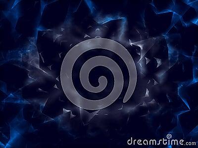 Fantasy dark transparent blue surface
