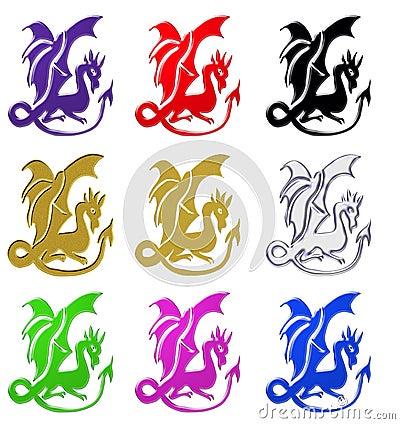 Fantasy dragon symbols