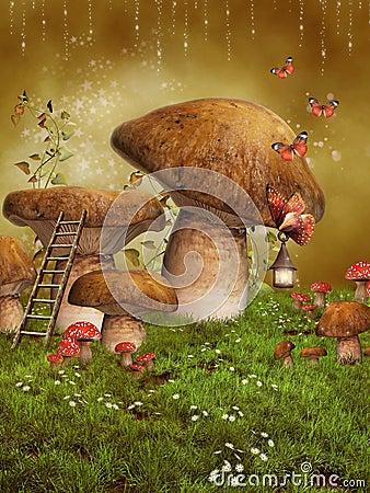 Fantasy fairy mushrooms