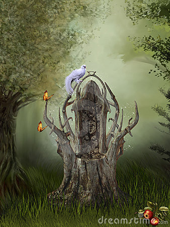 Free Fantasy Forest Royalty Free Stock Photography - 17758747
