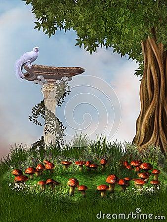 Free Fantasy Garden Royalty Free Stock Image - 18331076