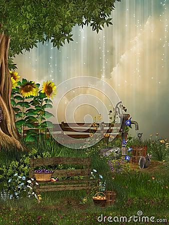 Free Fantasy Garden Royalty Free Stock Photography - 18332617