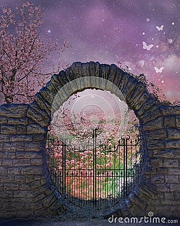 Fantasy garden background