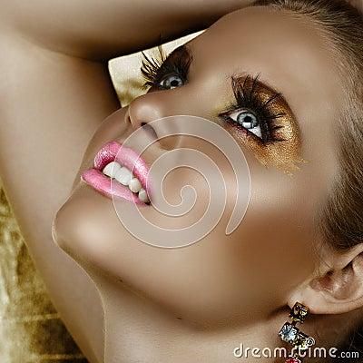 Fantasy Makeup - Stock Photo
