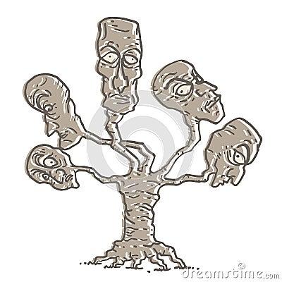 Fantasy heads tree