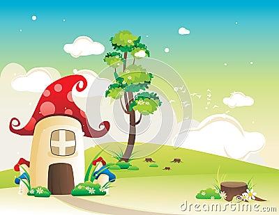 Fantasy house vector