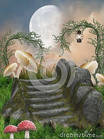 Free Fantasy Landscape Royalty Free Stock Images - 17412499