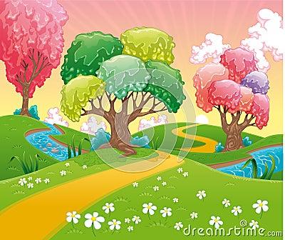 Fantasy landscape.