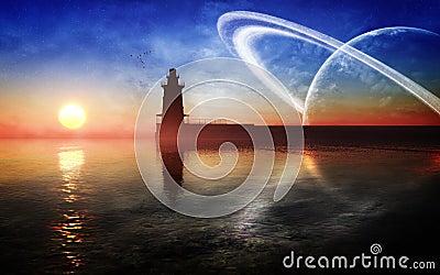 Fantasy Lighthouse Environment