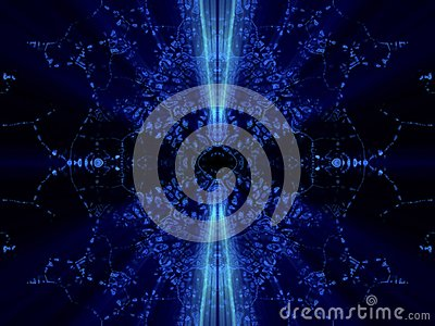 Fantasy mirrored blue abstract with shines