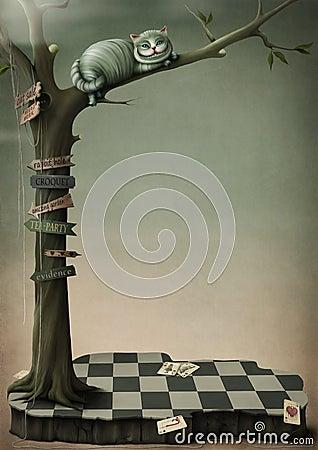 Fantasy poster Cheshire Cat