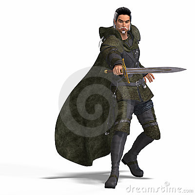 Free Fantasy Rogue With Sword Stock Images - 9496194