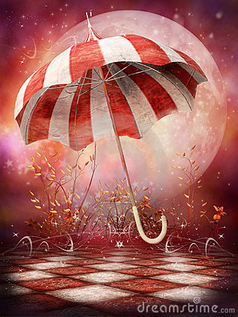 Free Fantasy Scenery With Umbrella Stock Images - 19805934