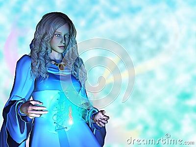Fantasy Spell Lady