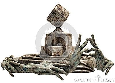 Fantasy stone shrine