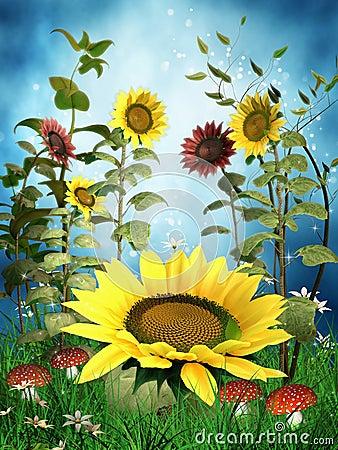 Fantasy sunflowers