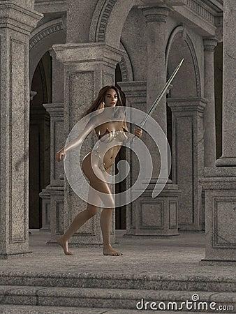 Fantasy Temple Guard