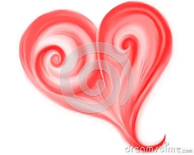 Fantasy tender red heart