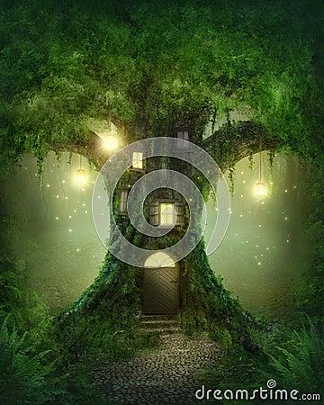 fantasy tree house royalty free stock photo image 33718885
