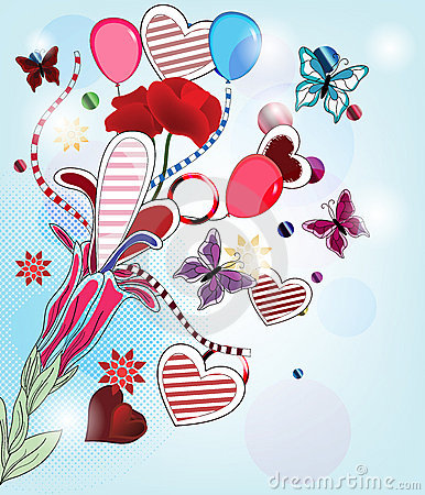 Fantasy valentine postcard