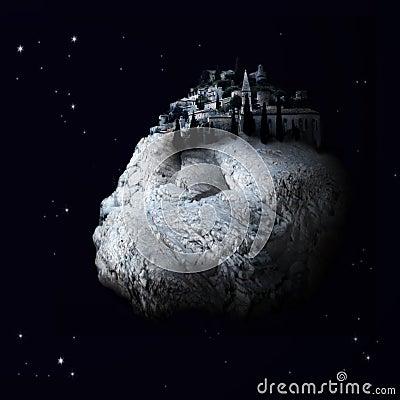 Free Fantasy Village In Space Stock Photo - 5952090