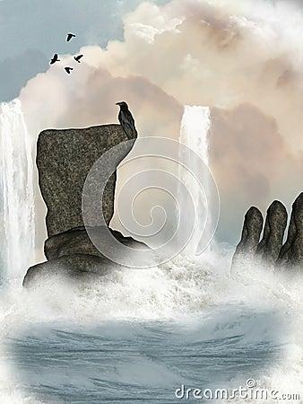 Free Fantasy Waterfall Stock Photos - 8662893