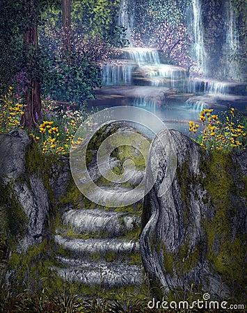 Fantasy waterfalls