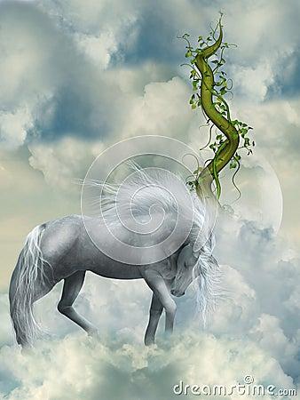 Fantasy white horse